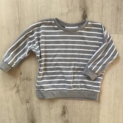 Grey striped Lounge Sweater
