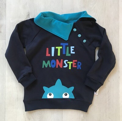 Little Monster collared sweater