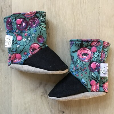 Jade floral soft sole boots