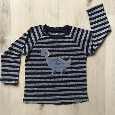 Striped Dino tee