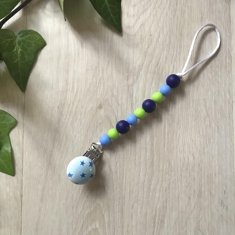 Shades of blue Silicone dummy clip
