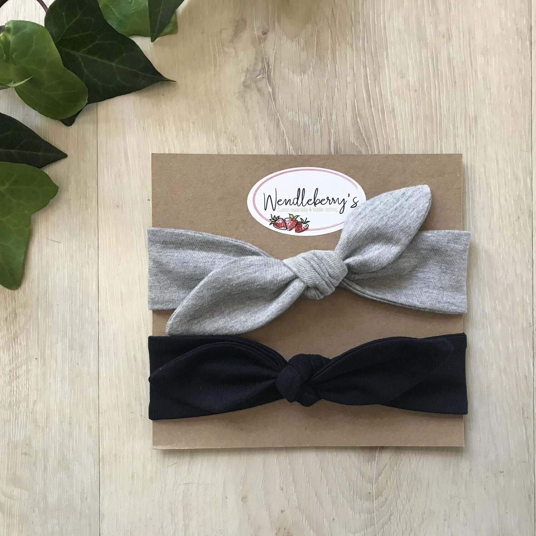 Navy and grey headband set