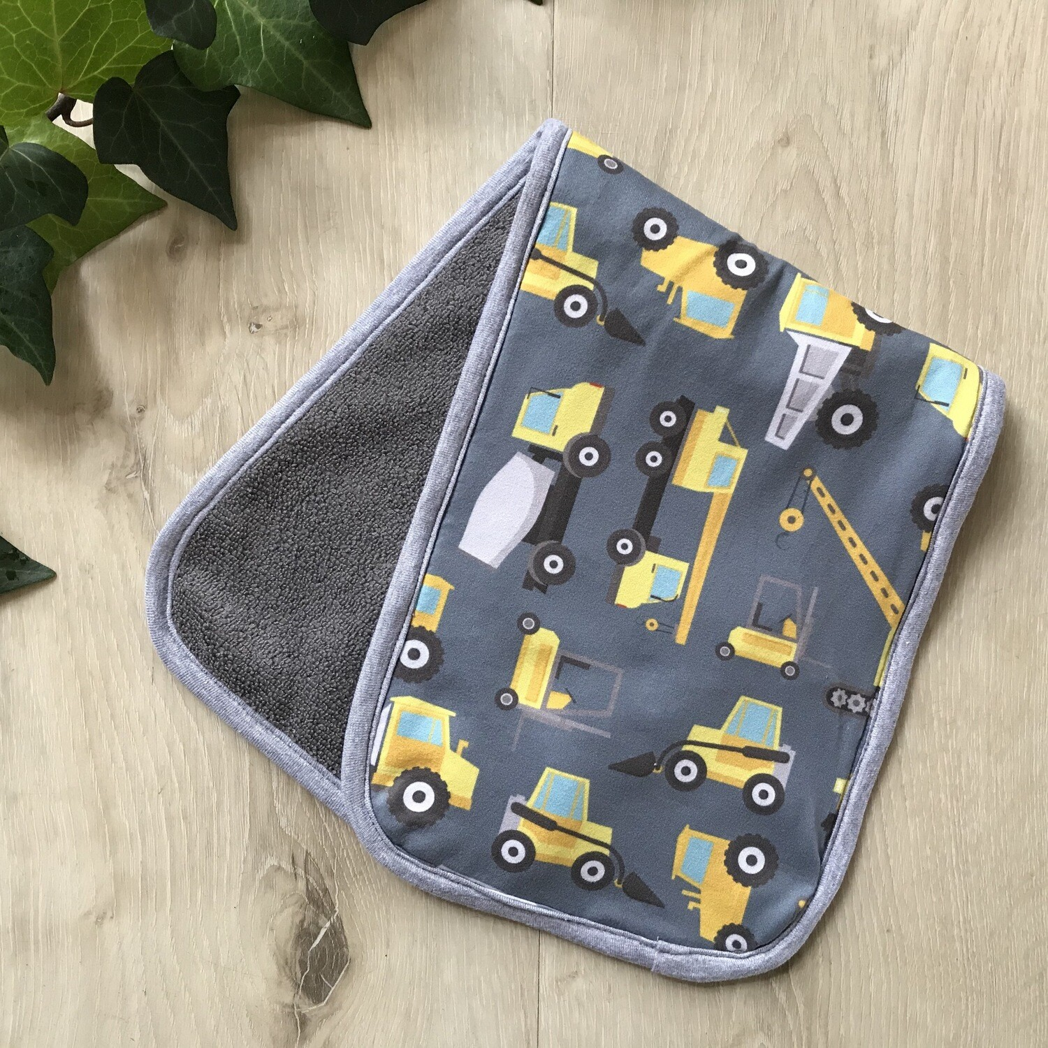 Construction burp cloth