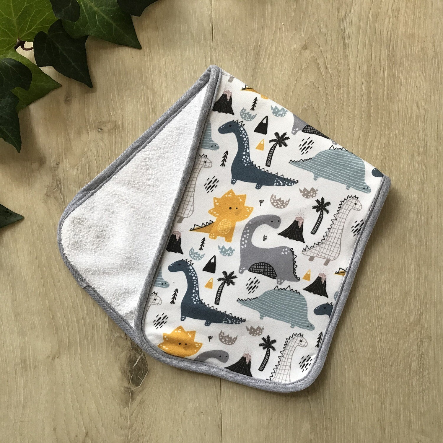 Dino burp cloth
