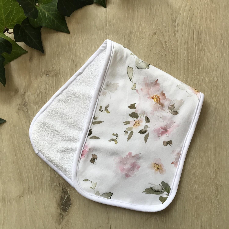 Pastel roses burp cloth