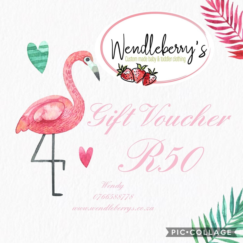 Gift voucher R50