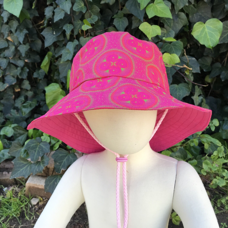 Pink mandalas Shweshwe bucket hat