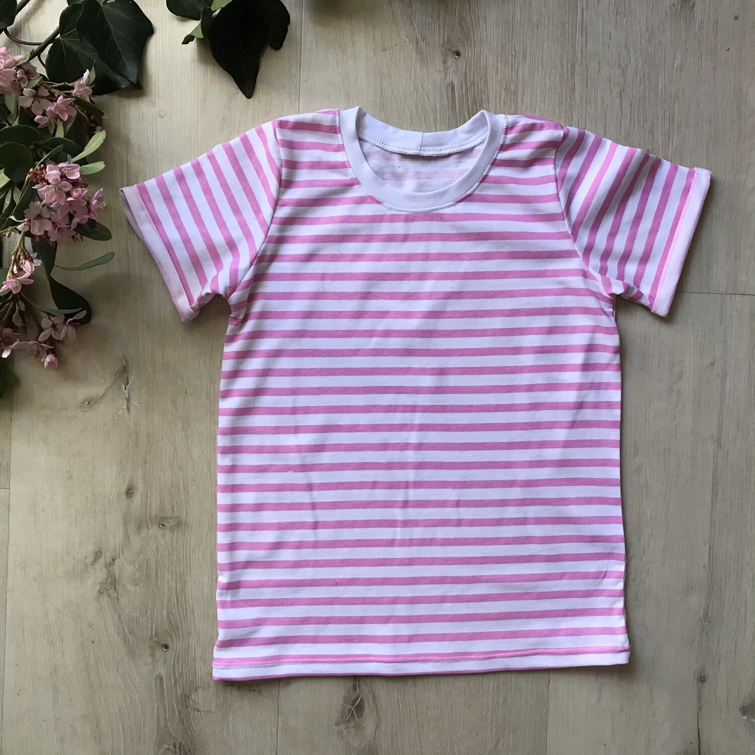 Pink striped tshirt
