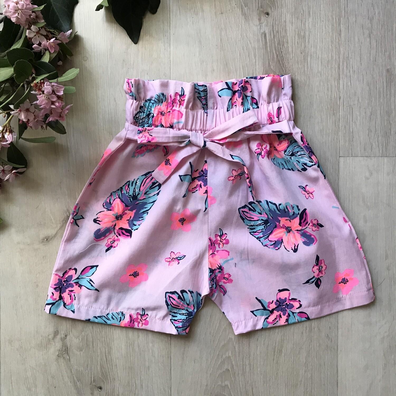 Floral paperbag shorts