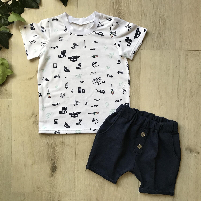 Transport lounge shorts and tshirt set