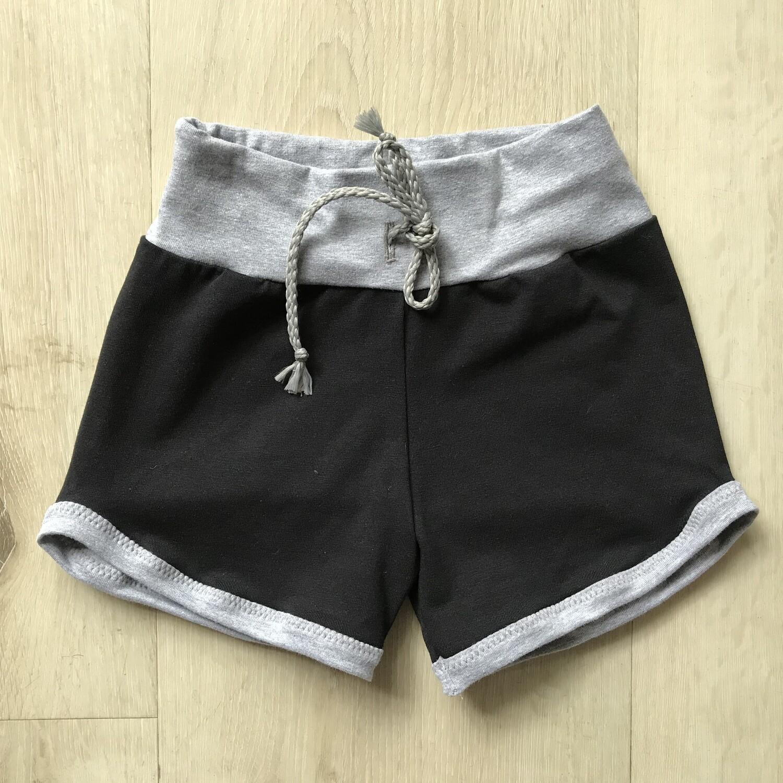 Black with Grey Retro shorts