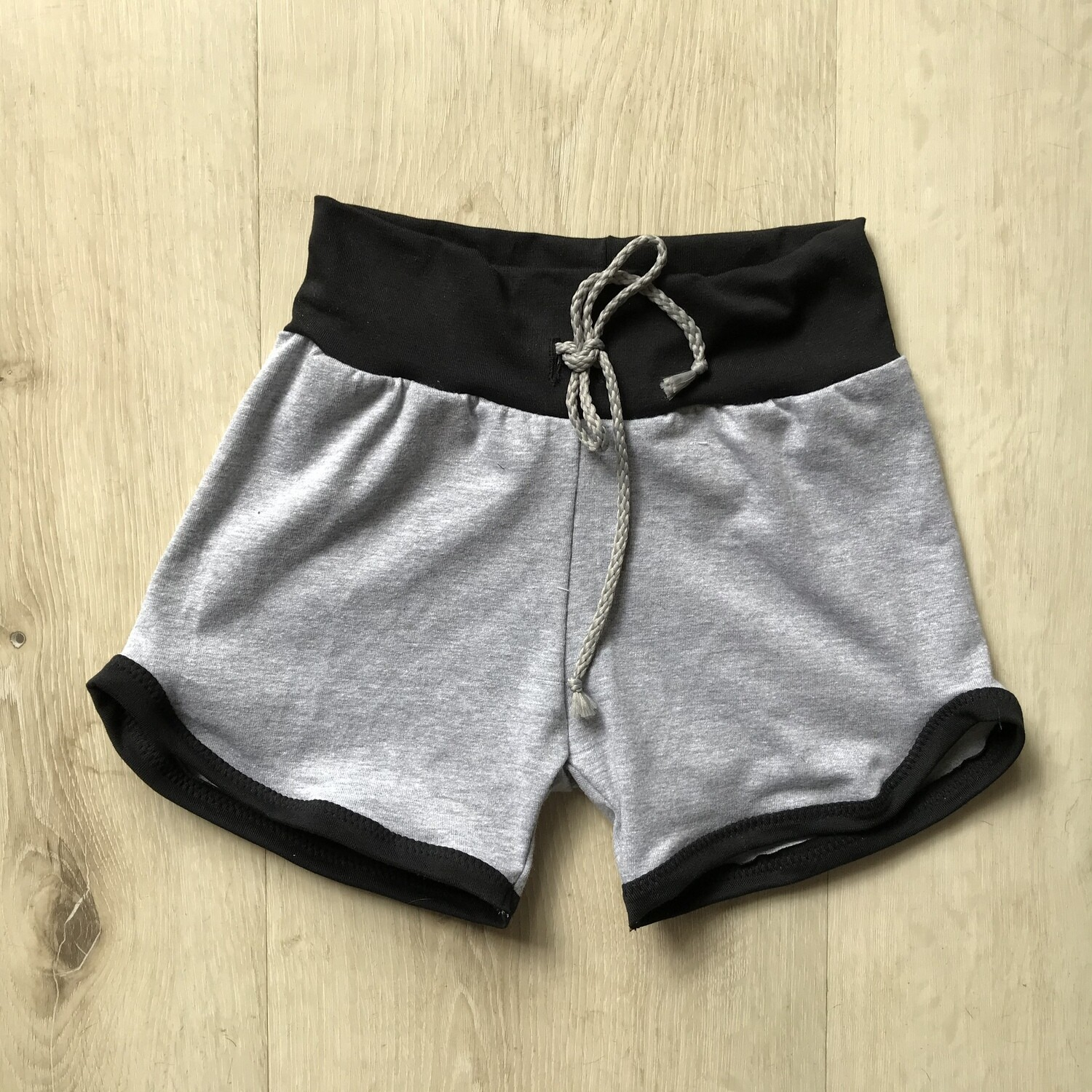 Grey with black Retro shorts