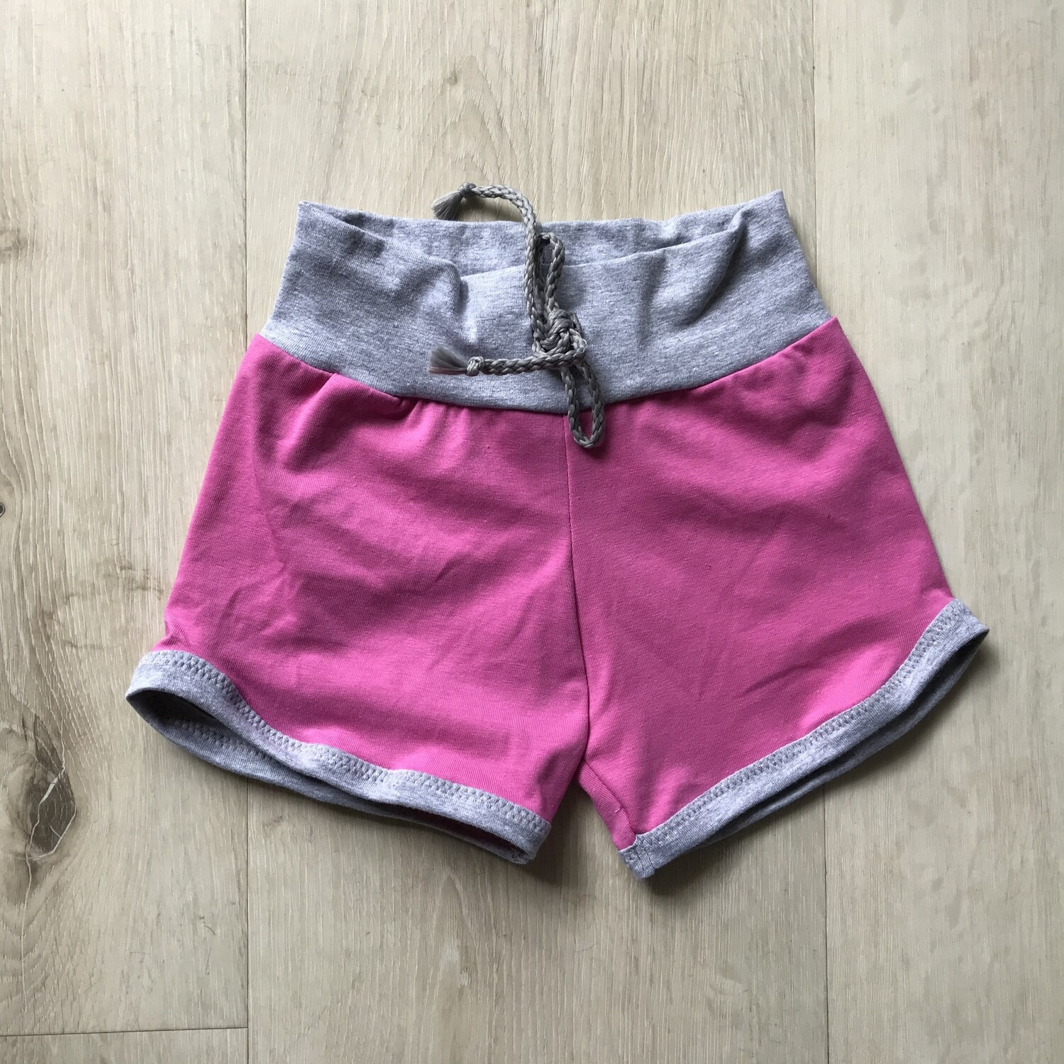 Pink with Grey Retro shorts