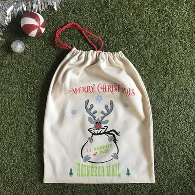 Reindeer mail Santa bag