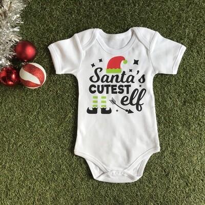 Santa's cutest elf onesie