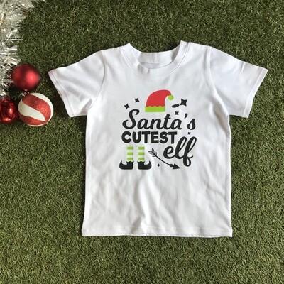 Santa's cutest elf tshirt