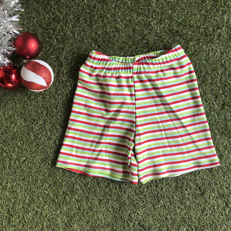 Christmas striped shorts