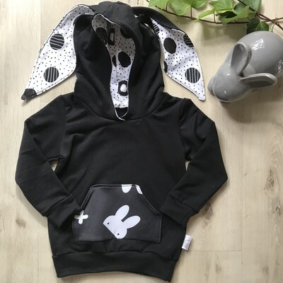 Hip hop bunny hoodie