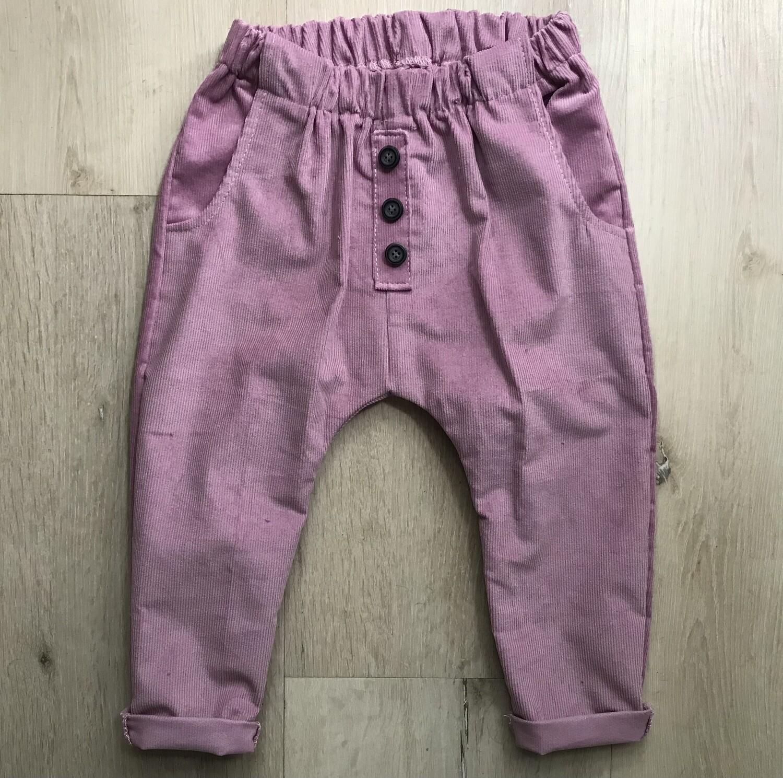 Dusty pink corduroy lounge pants