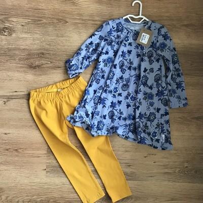 Floral dress and leggings set