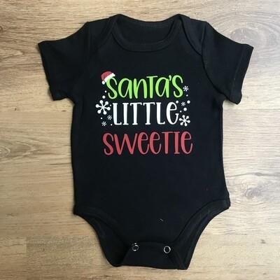 Santa's little sweetie onesie