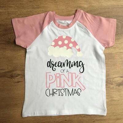 Pink Christmas tee
