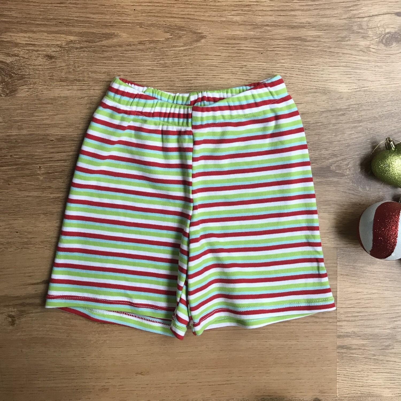 Striped Christmas Shorts