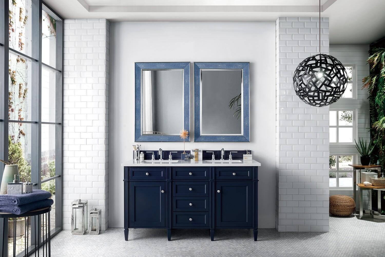 152 cm Badmöbel Landhaus Doppelwaschtisch Blau