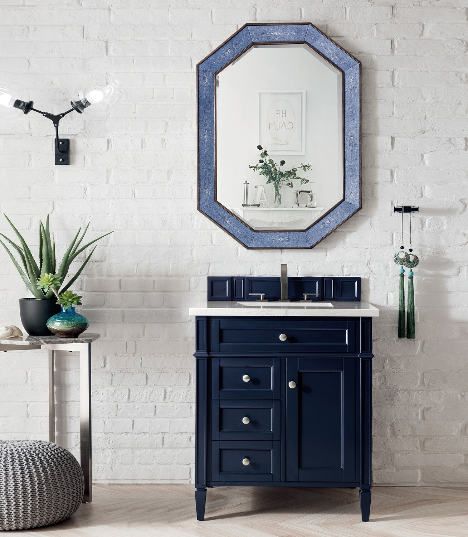 70 cm Badmöbel Landhaus Waschtisch Landhausstil Blau
