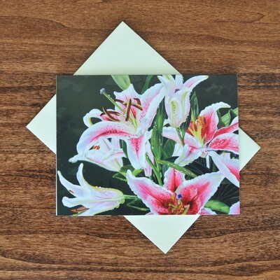 """""""Stargazer Lily"""" Note Cards - 4 pack"""