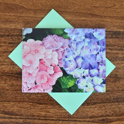 """""""Hydrangea"""" Note Cards - 4 pack"""
