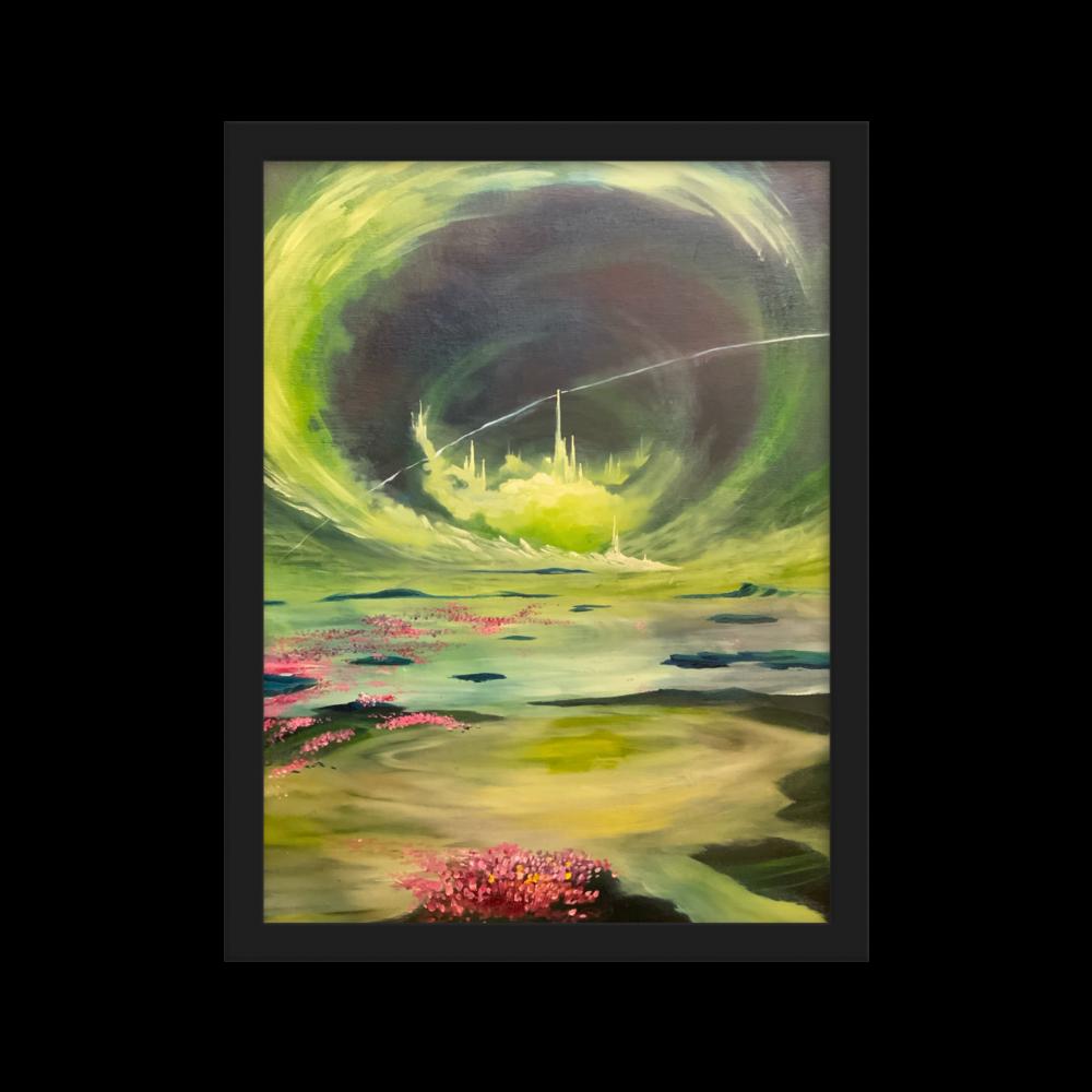 Tranquil convergences Framed matte paper poster