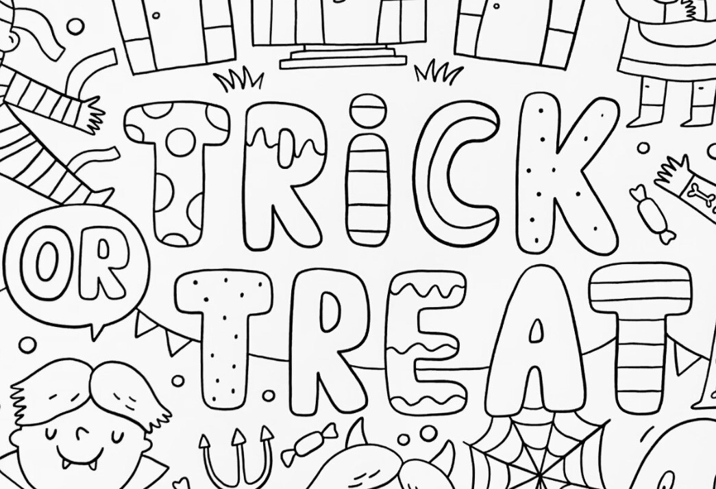 Halloween Coloring Poster