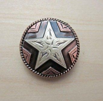 """Concho 2 Star Copper 1 1/8"""" ~ TL2047ACS"""