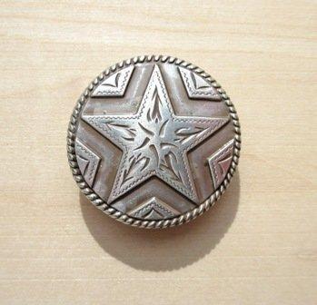 """Concho 2 Star Silver 1 1/8"""" ~ TL2047SR"""