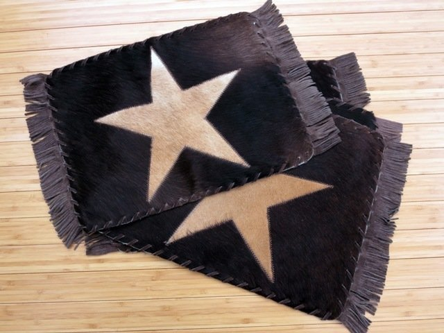Star Fringed Placemats ~ Set of 2