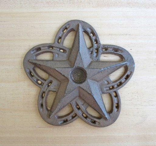 Horseshoe Star Candle Holder ~ RB78277