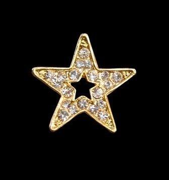 Rhinestone Star Tack Pin ~ W13474
