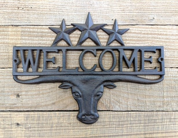 Longhorn Star Welcome Sign T6840