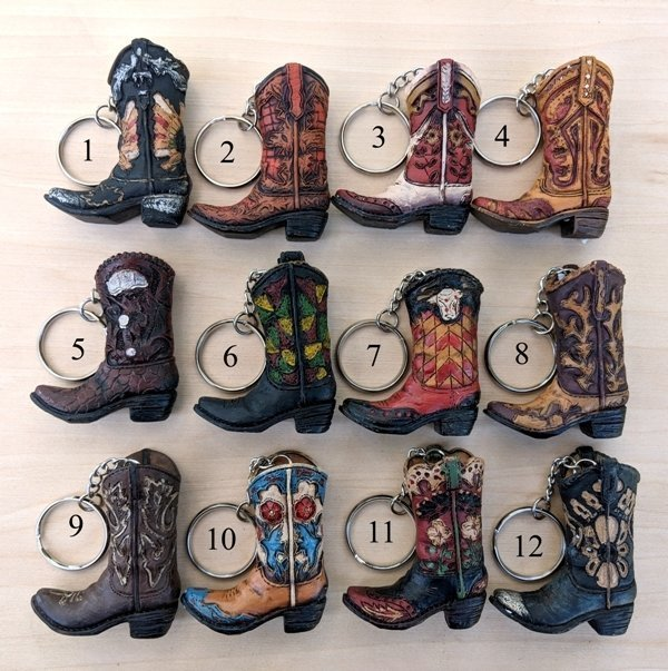 Western Boot Key Chain