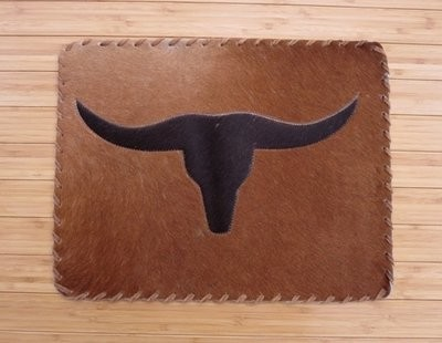 Longhorn Cowhide Placemats ~ Set of 2