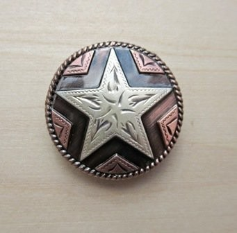 Concho 2 Star Copper 1 1/8