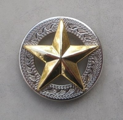 Concho with Raised Gold Star 1