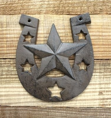 Horseshoe Star Plaque ~ T3016