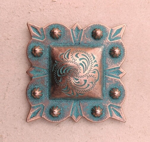 Concho ~ Square Berry Copper ~ 2""