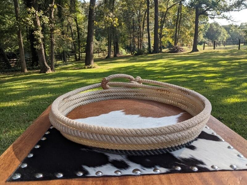 Cowhide Lariat Basket ~ LB1353BWC