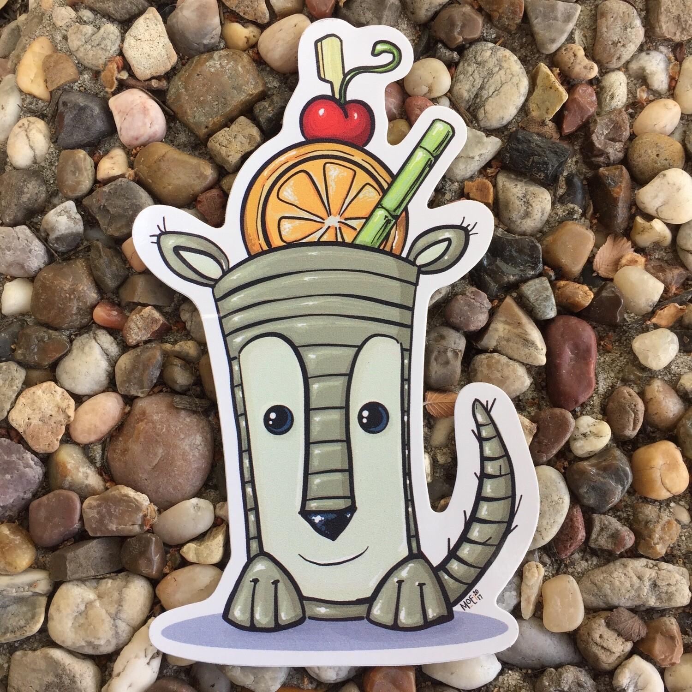 Sticker: Armadillo Bob