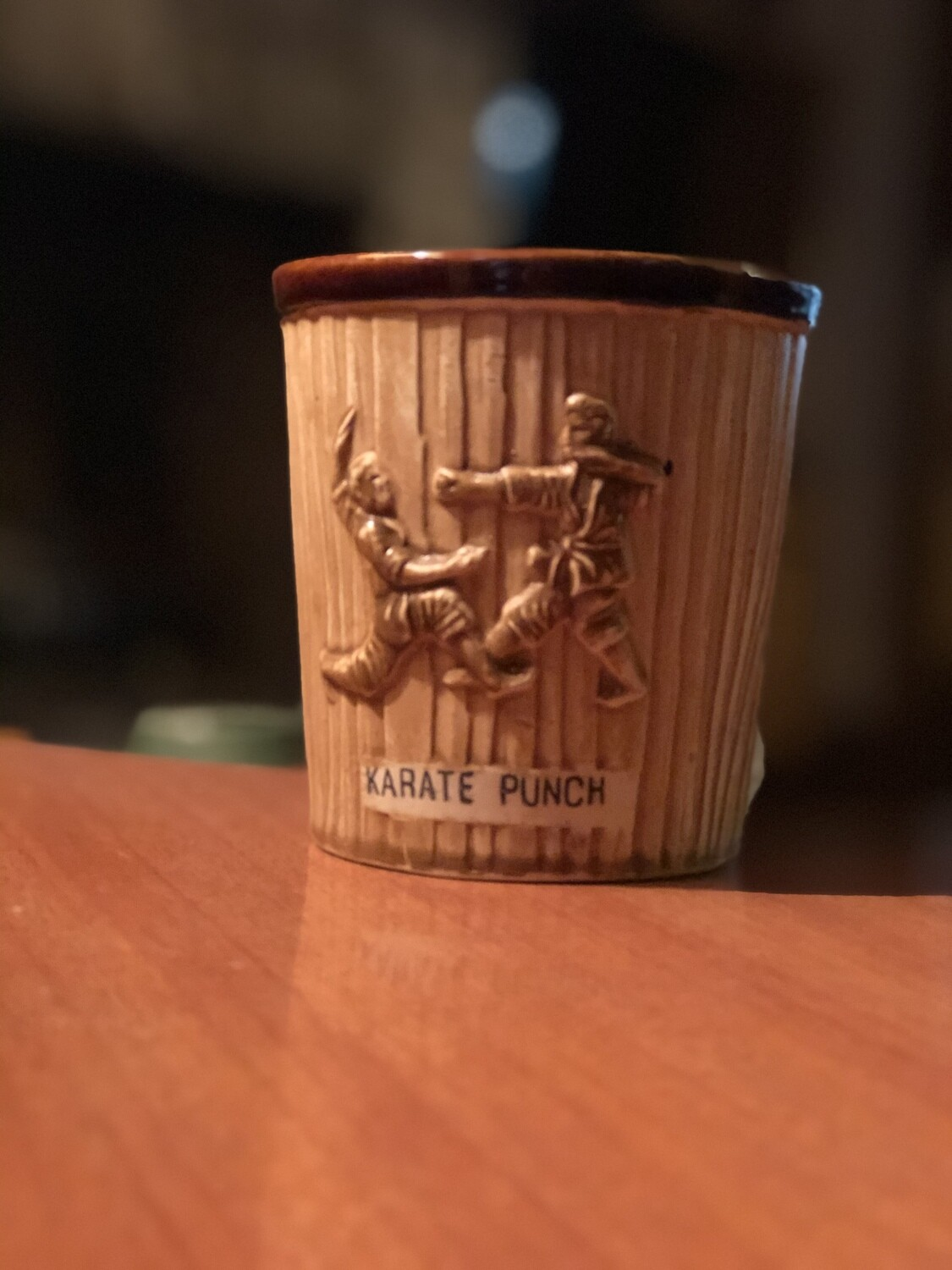 Tiki Mug: Karate Punch Cask/Woodgrain
