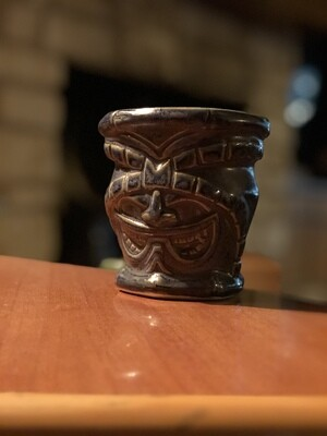 Tiki Mug: Tau'a in Blue by the Tizz, Tiki Farm 2012