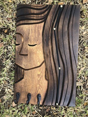 Wood Carving: Wahini Jewelry/Hair clip Holder